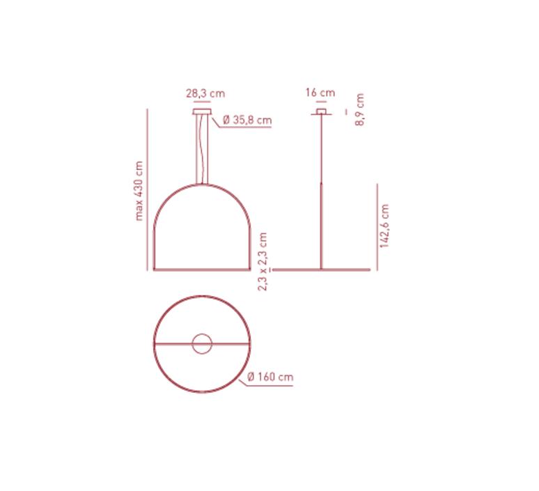 Sp uli 160 timo ripatti suspension pendant light  axo light apuli160ledan  design signed 42175 product