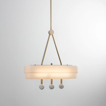 Suspension spate laiton marbre carrara l44cm h44cm bert frank normal