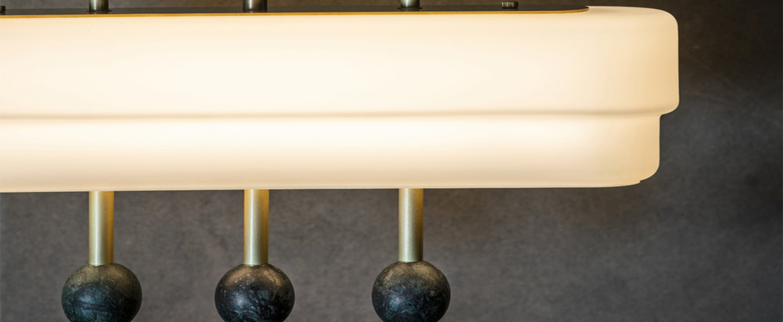 Suspension spate laiton marbre guatemala l44cm h44cm bert frank normal