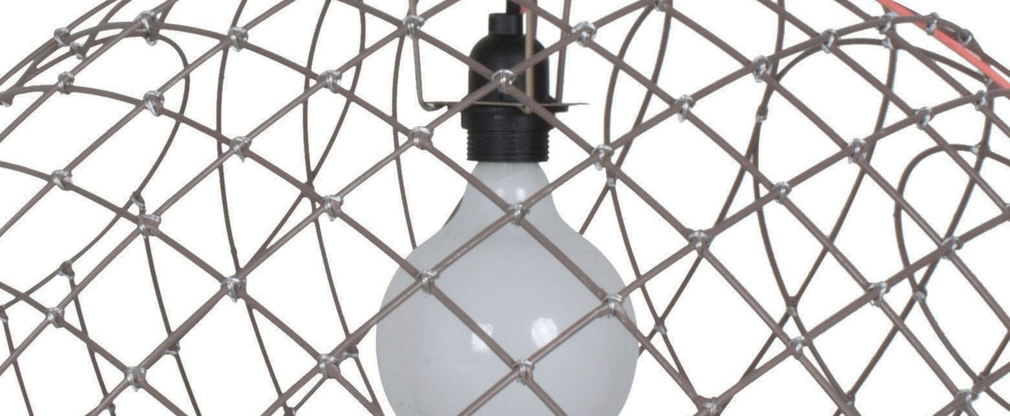 Suspension sphere metal 2xl taupe o75cm cm forestier normal