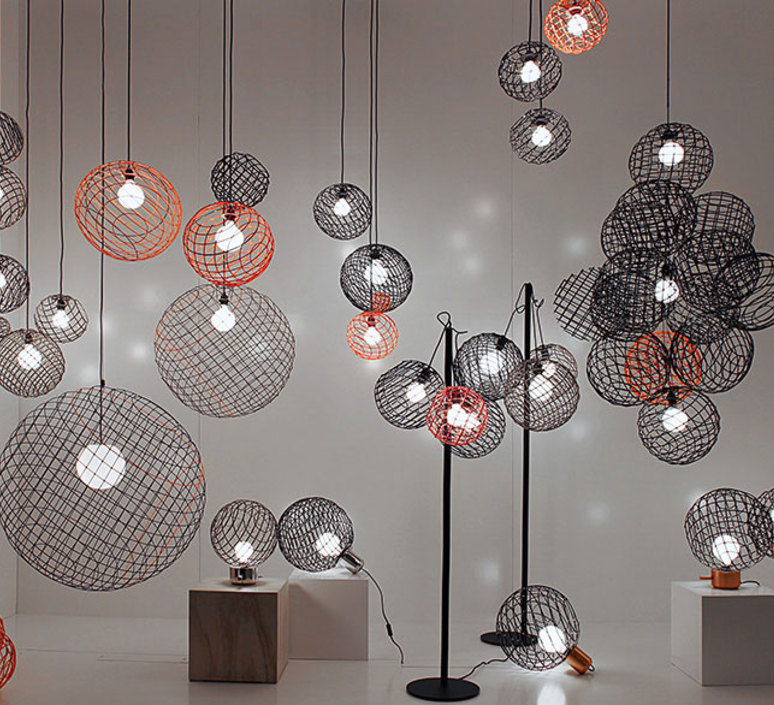 Sphere metal 2xl arik levy suspension pendant light  forestier 20907  design signed 42756 product