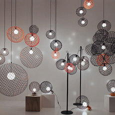 Sphere metal 2xl arik levy suspension pendant light  forestier 20907  design signed 42756 thumb