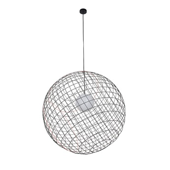 Suspension sphere metal xl noir o105cm cm forestier normal
