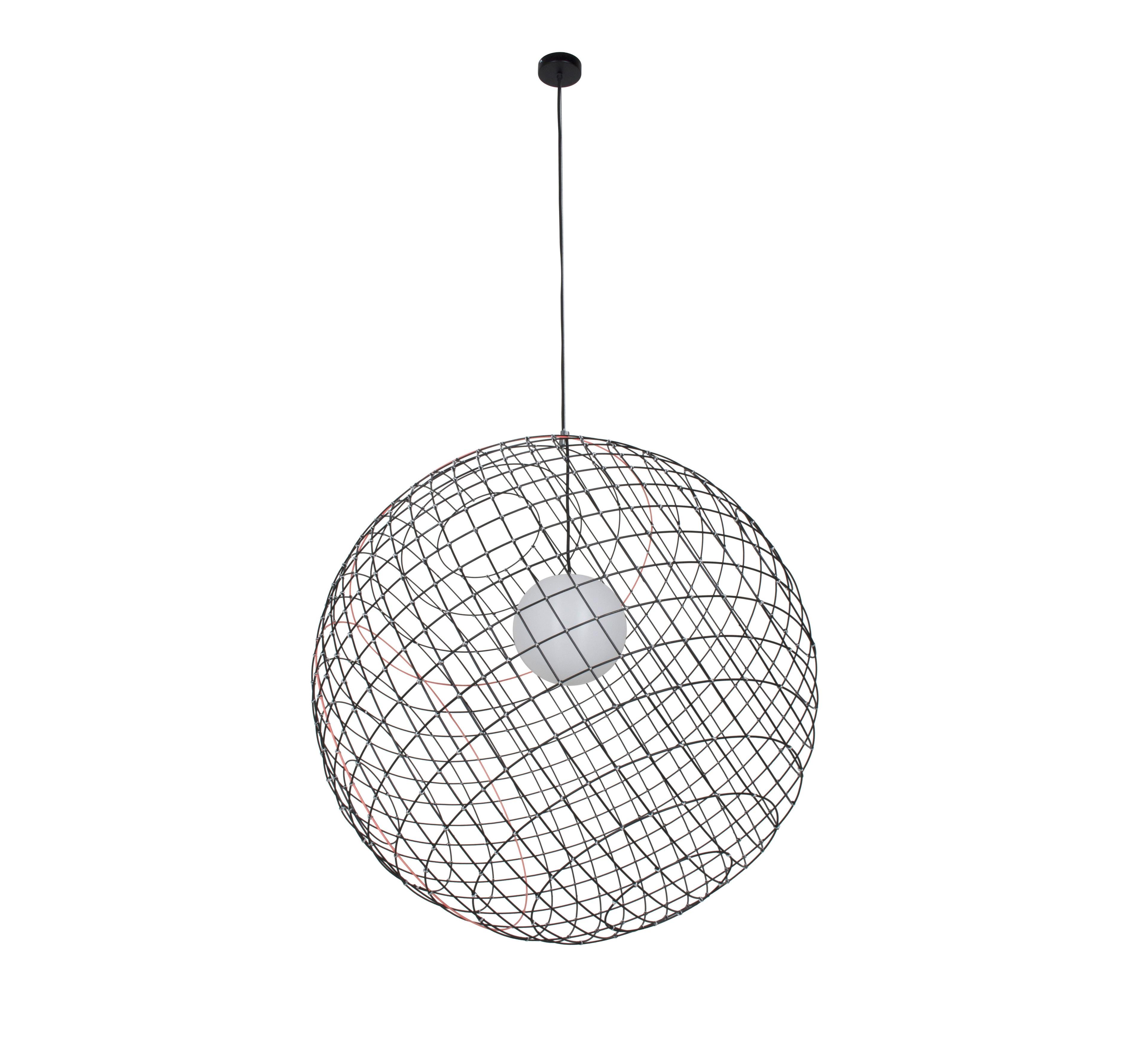suspension sphere m tal xl noir 105cm forestier luminaires nedgis. Black Bedroom Furniture Sets. Home Design Ideas