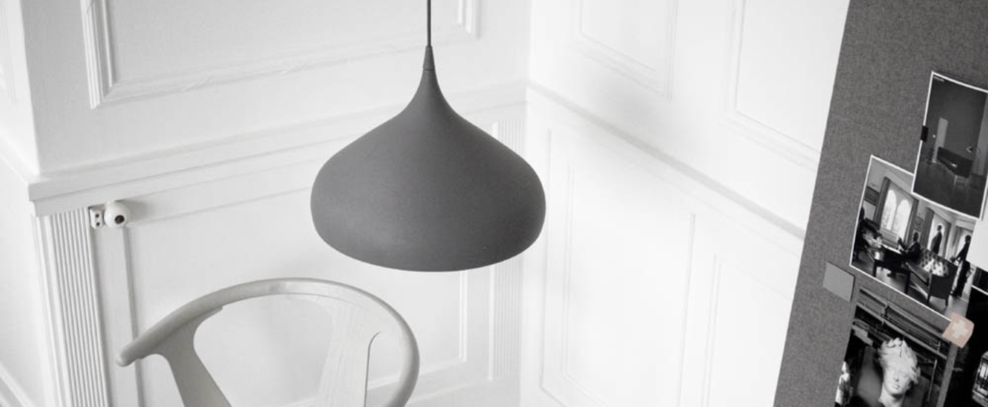 Suspension spinning light bh2 gris o40cm h34cm andtradition normal