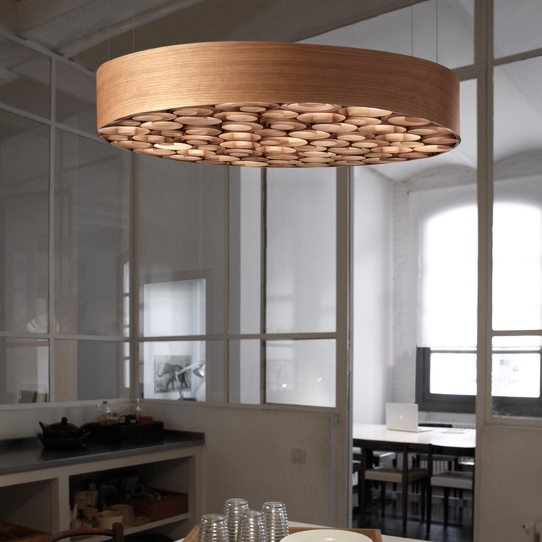 55 Best Home Decor Ideas: Suspension, Spiro, Bois Naturel De Cerisier, Ø96cm