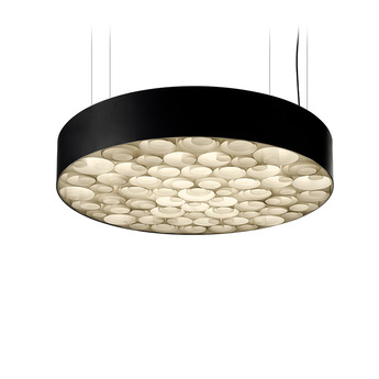 Suspension spiro noir blanc ivoire o75cm lzf normal
