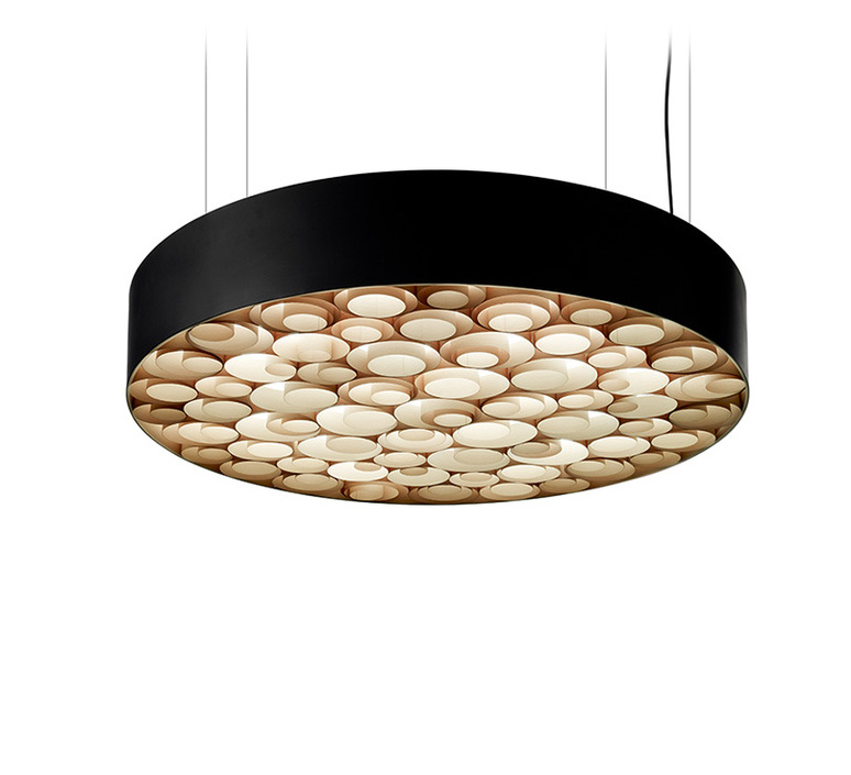 Spiro remedios simon suspension pendant light  lzf sprosg black 22 dali  design signed nedgis 90883 product