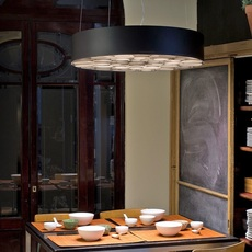 Spiro remedios simon suspension pendant light  lzf sprosg black 22 dali  design signed nedgis 90884 thumb