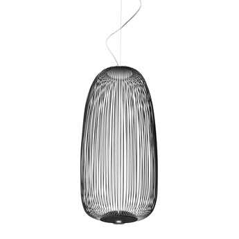 Suspension spokes 1 dimmable noir led 2700k 3220lm o32 5cm h71cm foscarini normal
