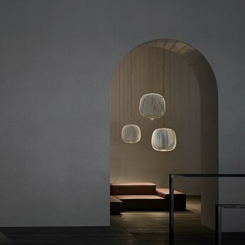 Suspension spokes 2 dimmable blanc led 2700k 3220lm o52cm h52 5cm foscarini normal