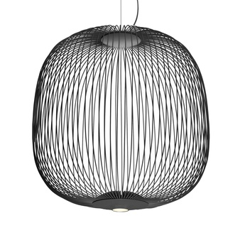Suspension spokes 2 dimmable graphite led 2700k 3220lm o52cm h52 5cm foscarini normal