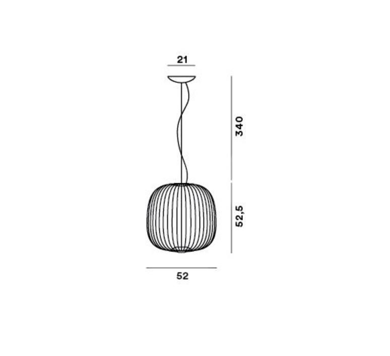Spokes 2 dimmable garcia cumini suspension pendant light  foscarini 2640072dr1 20  design signed nedgis 85169 product
