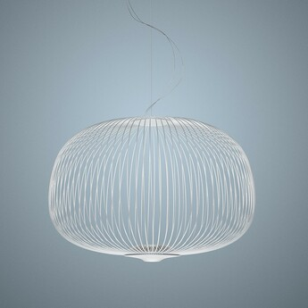 Suspension spokes 3 dimmable blanc led 2700k 3220lm o62cm h42cm foscarini normal