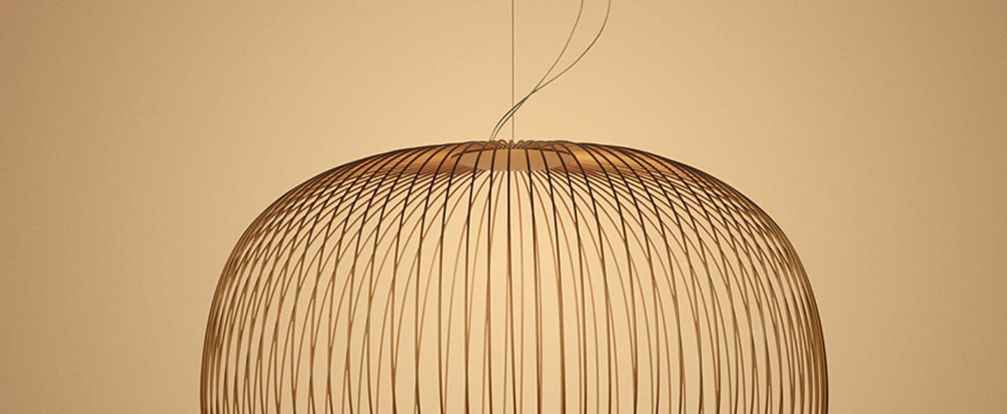 Suspension spokes 3 dimmable cuivre led 2700k 3220lm o62cm h42cm foscarini normal