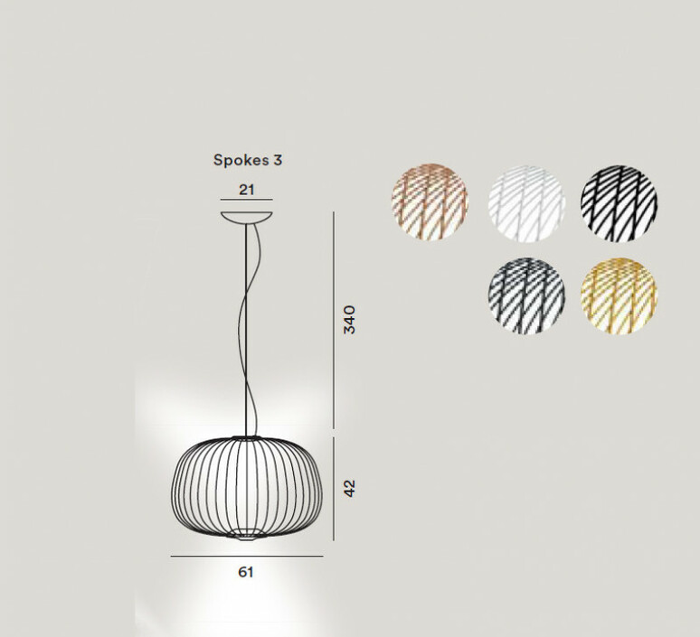 Spokes 3 dimmable garcia cumini suspension pendant light  foscarini 2640073d 80  design signed nedgis 85244 product