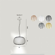Spokes 3 dimmable garcia cumini suspension pendant light  foscarini 2640073d 22  design signed nedgis 85234 thumb