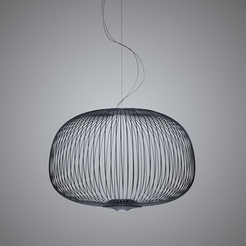 Suspension spokes 3 dimmable graphite led 2700k 3220lm o62cm h42cm foscarini normal