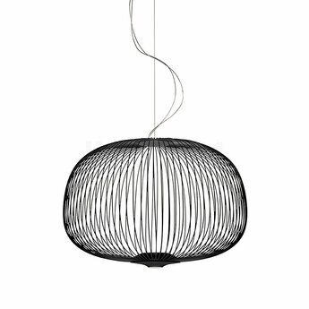 Suspension spokes 3 dimmable noir led 2700k 3220lm o62cm h42cm foscarini normal