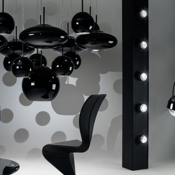 Suspension spot noir led o11 1cm h13 5cm tom dixon normal