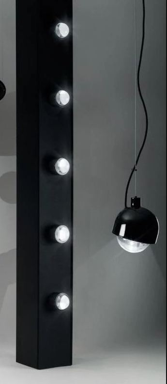Suspension spot pendant round noir led o11 4cm h14 5cm tom dixon normal