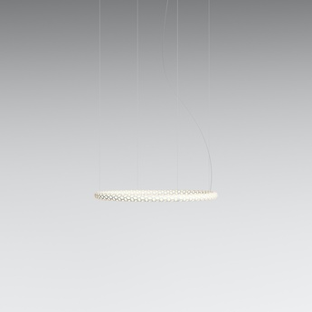 Suspension squiggle 1 blanc led 2700k 2800lm o69cm h4cm rotaliana normal