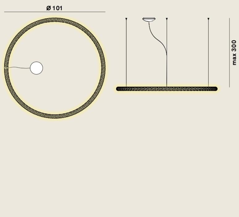 Squiggle 2 giovanni lauda suspension pendant light  rotaliana 1sqh200063zl0  design signed nedgis 115318 product