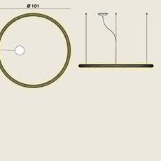 Squiggle 2 giovanni lauda suspension pendant light  rotaliana 1sqh200063zl0  design signed nedgis 115318 thumb