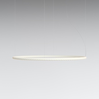 Suspension squiggle 3 blanc led 2700k 4600lm o132cm h4cm rotaliana normal