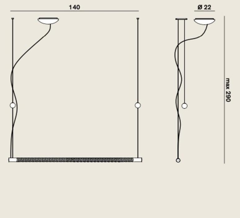Squiggle 8 paolo rizzatto suspension pendant light  rotaliana 1sqh008063zl0  design signed nedgis 115393 product