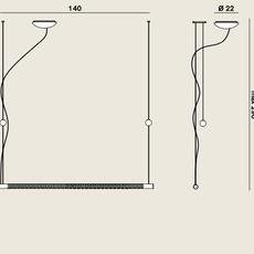 Squiggle 8 paolo rizzatto suspension pendant light  rotaliana 1sqh008063zl0  design signed nedgis 115393 thumb