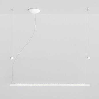 Suspension squiggle 8 blanc mat led 2700k 2500lm l140cm h4cm rotaliana normal