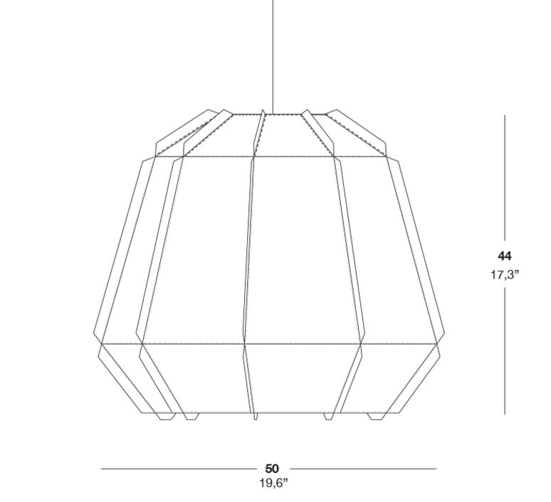 Stitches bamako studio burojet suspension pendant light  lzf dark stch s bmk 20  design signed 38054 product