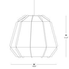 Stitches bamako studio burojet suspension pendant light  lzf dark stch s bmk 20  design signed 38054 thumb