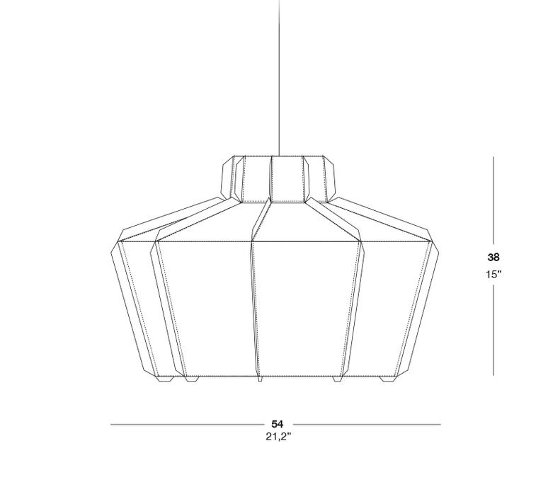 Stitches mopti studio burojet suspension pendant light  lzf dark stch s mop 28  design signed 38040 product