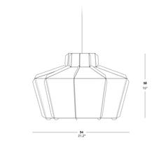 Stitches mopti studio burojet suspension pendant light  lzf dark stch s mop 28  design signed 38040 thumb