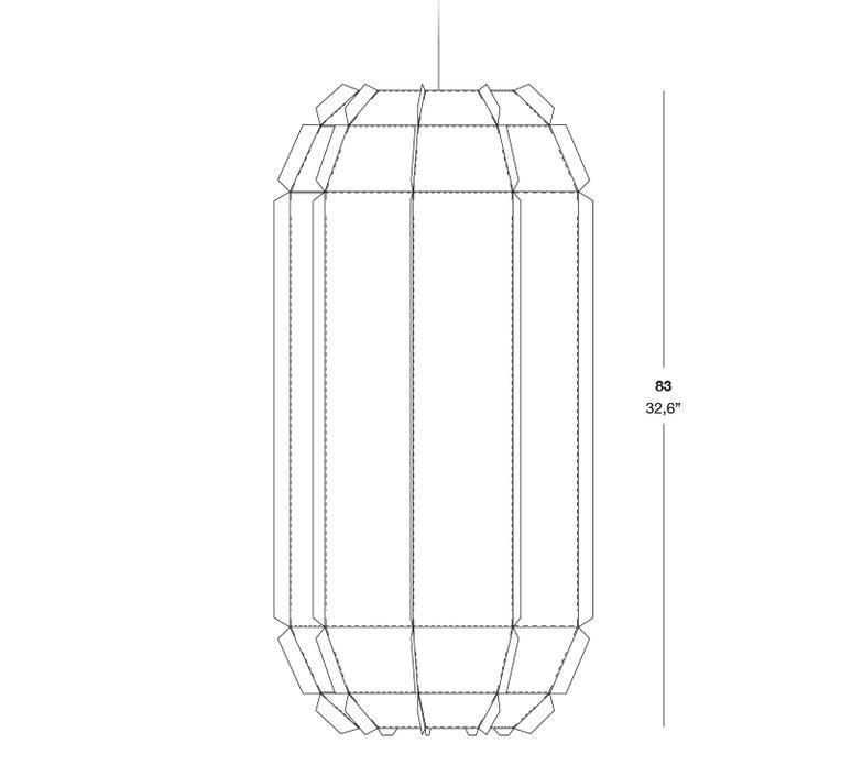 Stitches tombuctu studio burojet suspension pendant light  lzf dark stch s tbtu 20  design signed 38045 product