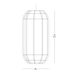 Stitches tombuctu studio burojet suspension pendant light  lzf dark stch s tbtu 20  design signed 38045 thumb