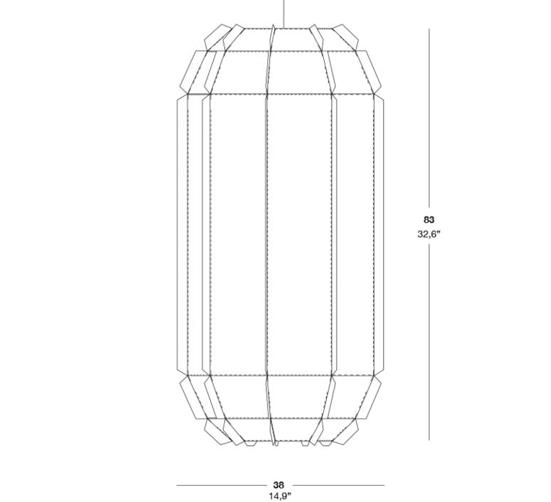 Stitches tombuctu studio burojet suspension pendant light  lzf dark stch s tbtu 28  design signed 38051 product