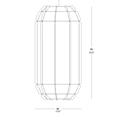 Stitches tombuctu studio burojet suspension pendant light  lzf dark stch s tbtu 28  design signed 38051 thumb