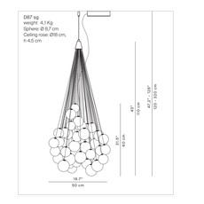 Stochastic d87sg daniel rybakken suspension pendant light  luceplan 1d870cc00000 1d8707200018  design signed 56194 thumb