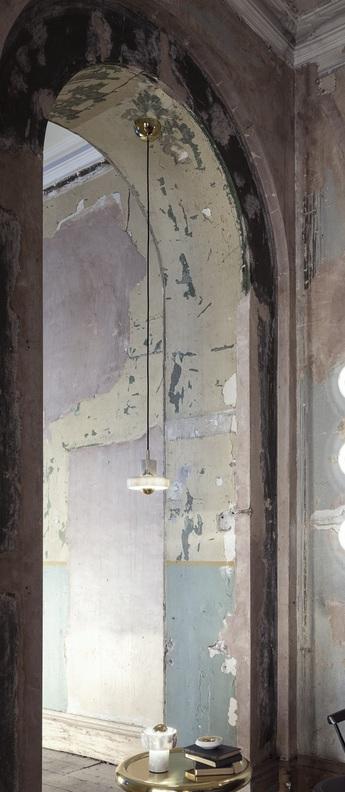 Suspension stone blanc or o10 6cm h18cm tom dixon normal