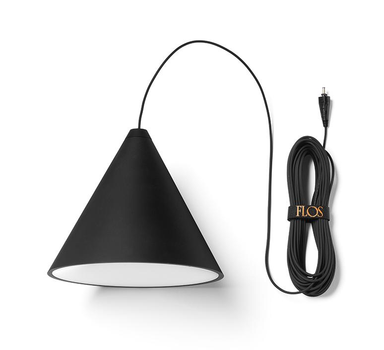 String light cone 12m rosace  michael anastassiades suspension pendant light  flos f6481030 f6482030  design signed nedgis 113561 product
