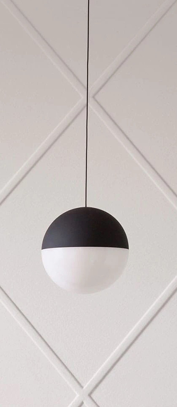 Suspension string light sphere 12m alimentation sol noir led 2700k 1345lm o19cm h16cm flos normal