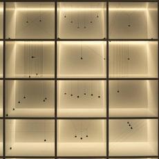 String light sphere 12m alimentation sol  michael anastassiades suspension pendant light  flos f6480030 f6484030  design signed nedgis 113601 thumb