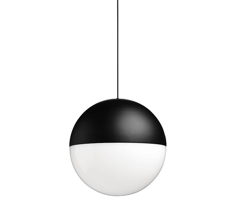 String light sphere 12m alimentation sol  michael anastassiades suspension pendant light  flos f6480030 f6484030  design signed nedgis 113605 product
