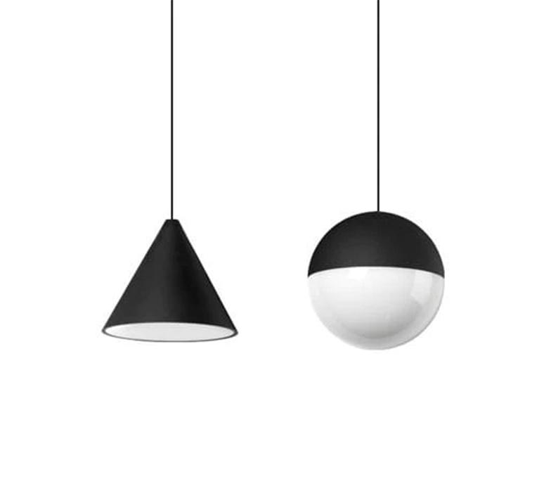 String light sphere 12m alimentation sol  michael anastassiades suspension pendant light  flos f6480030 f6484030  design signed nedgis 113606 product