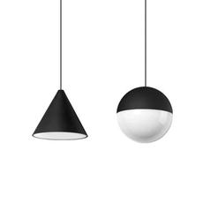 String light sphere 12m alimentation sol  michael anastassiades suspension pendant light  flos f6480030 f6484030  design signed nedgis 113606 thumb