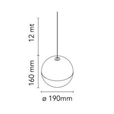 String light sphere 12m alimentation sol  michael anastassiades suspension pendant light  flos f6480030 f6484030  design signed nedgis 113611 thumb
