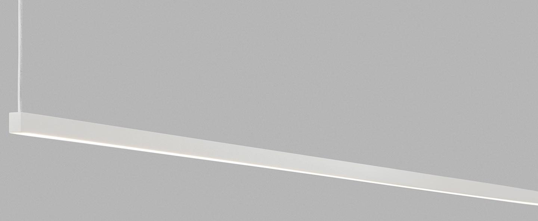 Suspension stripe s2000 blanc led 2700k 2970lm l200cm h45cm light point normal